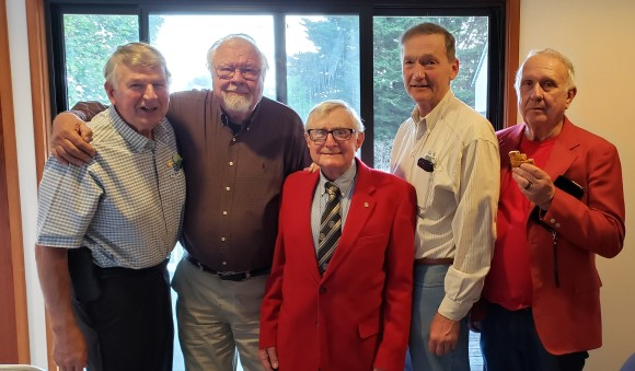 Former Presidents Mike Cliff Art Ron and Jim
